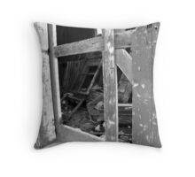 Smashed door Throw Pillow