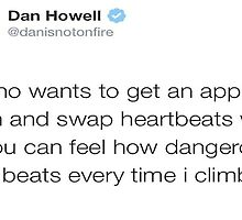 Dan Howell DANISNOTONFIRE Tweet Twitter by caracantfly