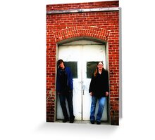 Beth and Brandi in a doorway Greeting Card