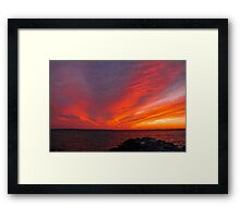 25 February 15 Sunset Framed Print