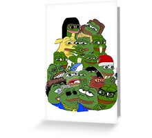 pepe Greeting Card