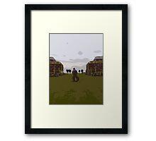 Gunwharf Cut-Out Framed Print
