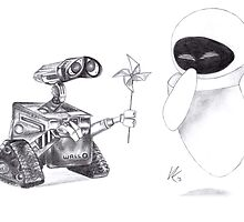 Wall-E and EVE by vknight1989