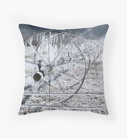 Sprinklers - Frozen  Throw Pillow