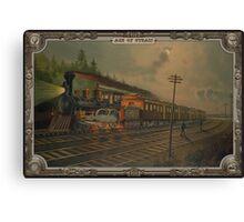 Night locomotive. Age of Steam #002 Canvas Print