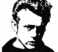 James Dean silhouette by vknight1989