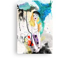 Tokyo Typhoon [with poem] Canvas Print