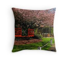 Sidewalk Scenery Throw Pillow