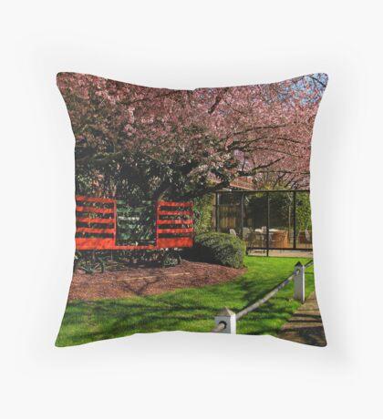 Sidewalk Scenery Throw Pillow