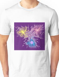 Colorful Fireworks Unisex T-Shirt
