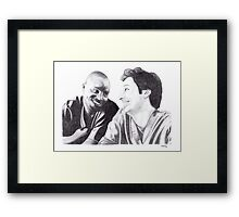 Scrubs - Turk & JD Framed Print