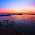 Fire and Water - Dee Why Baths Dawn by David Morgan-Mar