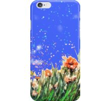 Poppies flowers field painting iPhone Case/Skin