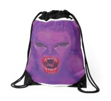 Out for a Fang Drawstring Bag