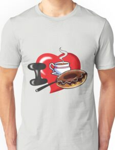 I Love Coffee and Donuts Unisex T-Shirt