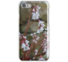 White flowers with red stems iPhone Case/Skin
