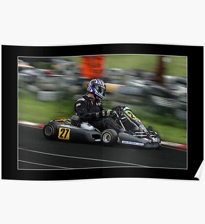 go kart racing Poster