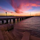 sunset over the swan river by dmaxwell