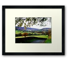 The Road to Farndale Framed Print
