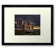 Sailing into the East River, New York City Framed Print