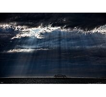 A Dark and Cloudy Day On The Seafront Photographic Print
