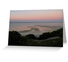 Sunrise over the lagoon Greeting Card