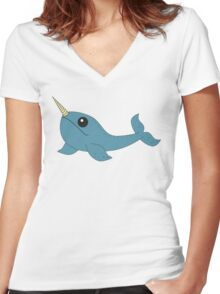 Narwhal Women's Fitted V-Neck T-Shirt