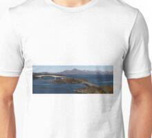 Skye Bridge and Cuillin Mountain Range - Panorama Unisex T-Shirt