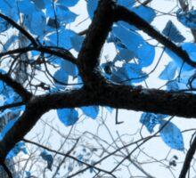 Cerulean Leaves Sticker