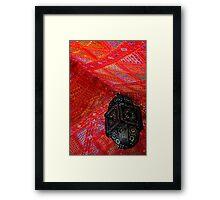 Lantern, Tent Framed Print