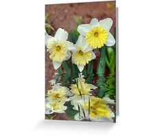 Daffodil Reflections Greeting Card