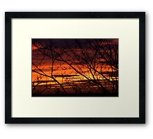 bonnie winter sunset no.2 Framed Print