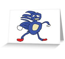 SANIC HEGEHOG Greeting Card