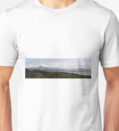 Cuillin Mountain range - Panorama Unisex T-Shirt