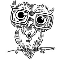 Gangster Owl Illustration by juicycreations