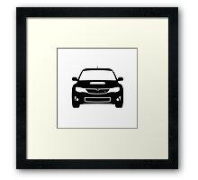 Subaru WRX Hatch Monochromatic Framed Print