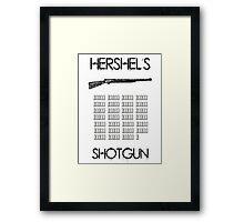 Hershel's Shotgun Framed Print