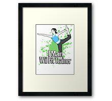 I Main Wii Fit Trainer - Super Smash Bros. Framed Print