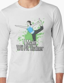 I Main Wii Fit Trainer - Super Smash Bros. Long Sleeve T-Shirt