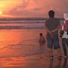 Enjoying a Balinese sunset by Adri  Padmos