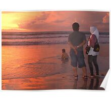 Enjoying a Balinese sunset Poster