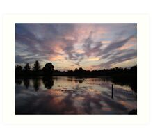 Sunset Over The Pads  Art Print