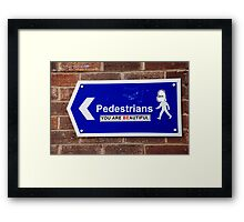 Beautiful Pedestrians Framed Print