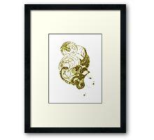 Asian Girls- Kissaeng :Pseudo Pompous Gold Framed Print