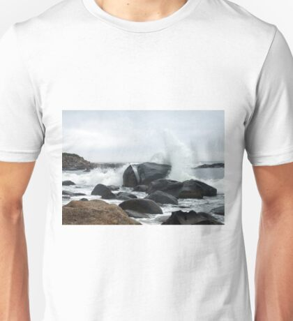 Spray Rock, Weekapaug, RI 2 Unisex T-Shirt