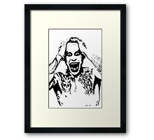 Joker Black & White  Framed Print