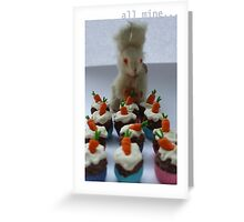guard the cakes Greeting Card