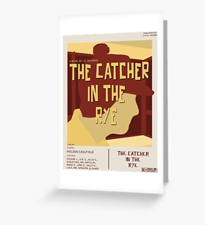 Catcher In The Rye - Vintage Movie Poster Style Greeting Card