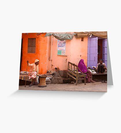Purple. Pushkar Greeting Card
