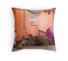 Purple. Pushkar Throw Pillow